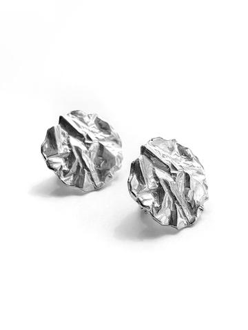 Серебряные серьги круги