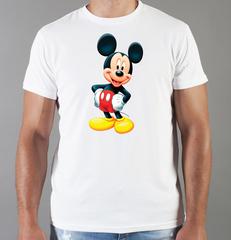 Футболка с принтом Микки Маус (Mickey Mouse) белая 0021