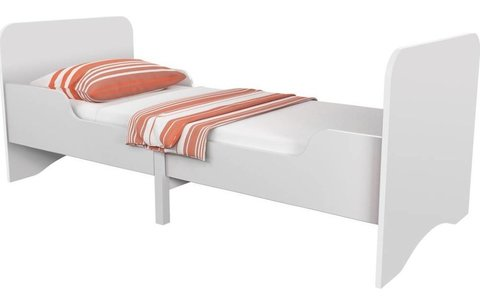 Кровать детская раздвижная Polini kids Fun 3200, белый