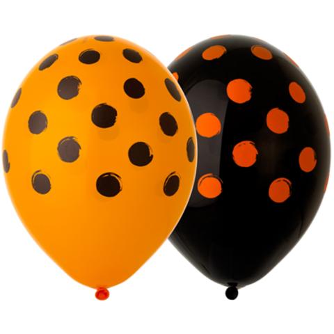 Шары Горох Оранжевый и Черный