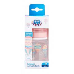 Canpol babies. Бутылочка In the clouds EasyStart с широким горлышком, РР, антиколиковая 120 мл 0м+, розовая