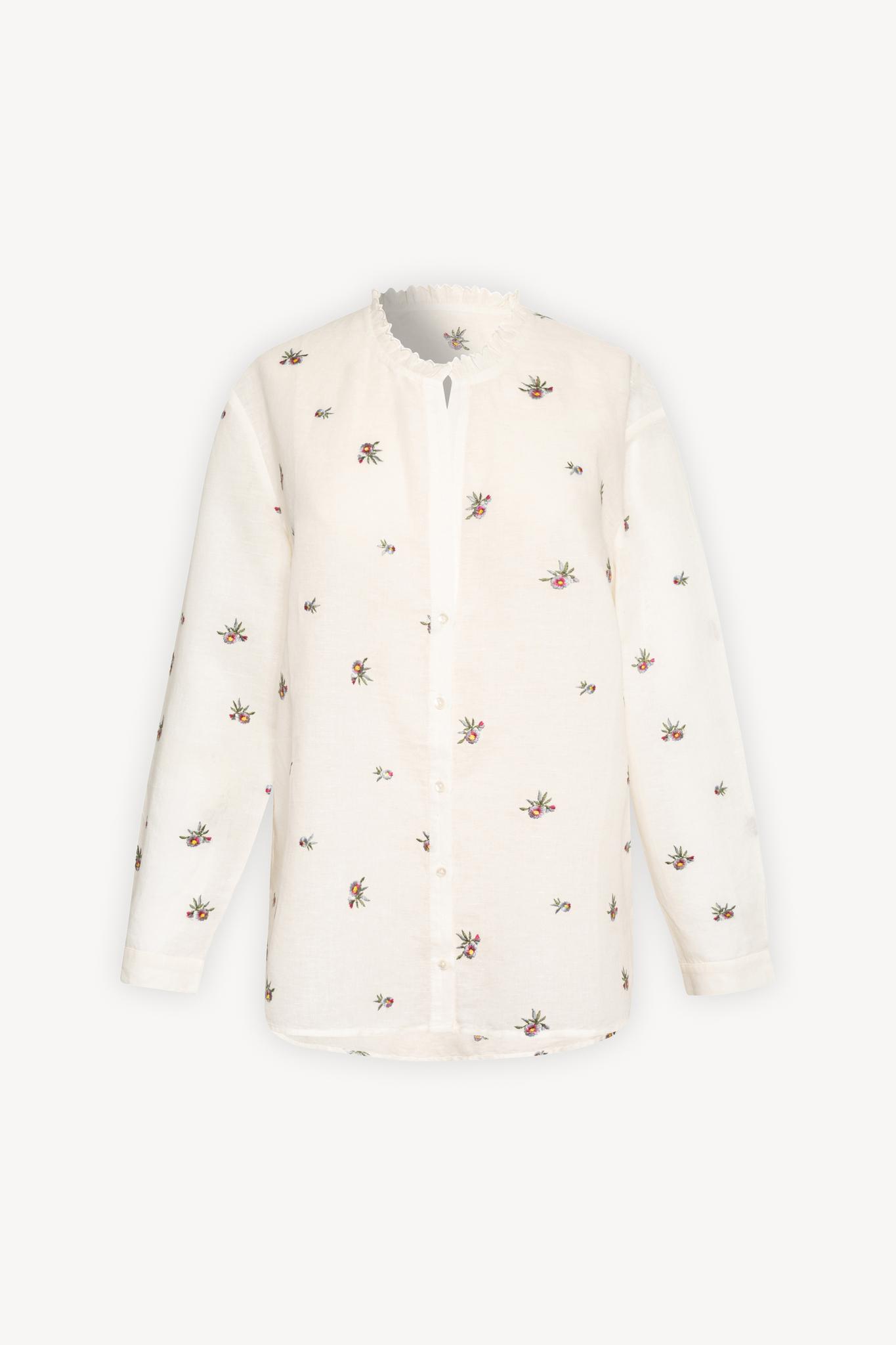 NEHEMIA - Блуза из хлопка и льна с вышивкой