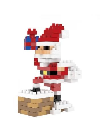 Конструктор Wisehawk Санта Клаус на крыше 155 деталей NO. 2262 Santa Claus with a pipe Gift series