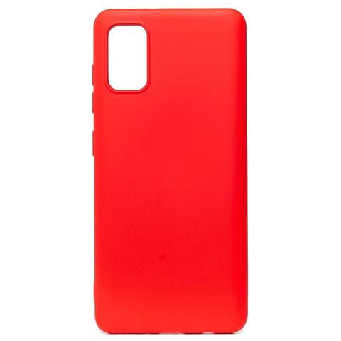 Чехол для Samsung (A415) Galaxy A41 Софт тач мягкий эффект   микрофибра красный