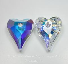 6240 Подвеска Сваровски Сердечко Wild Heart Crystal AB (12 мм)