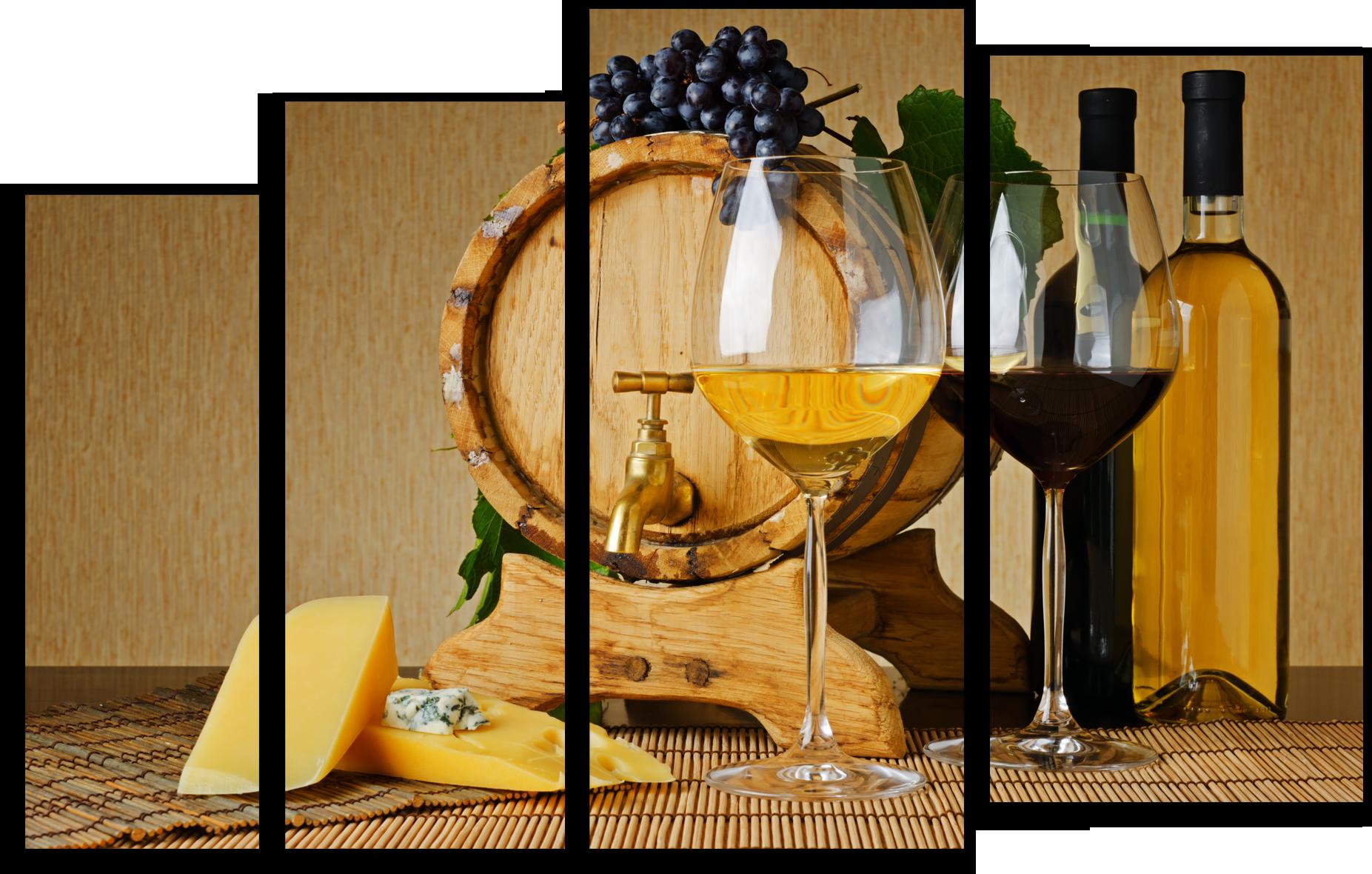 "Еда Модульная картина ""Бочка с вином"" М561.png"