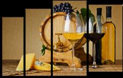 "Модульная картина ""Бочка с вином"""
