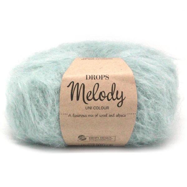 Пряжа Drops Melody 09 серо-голубой