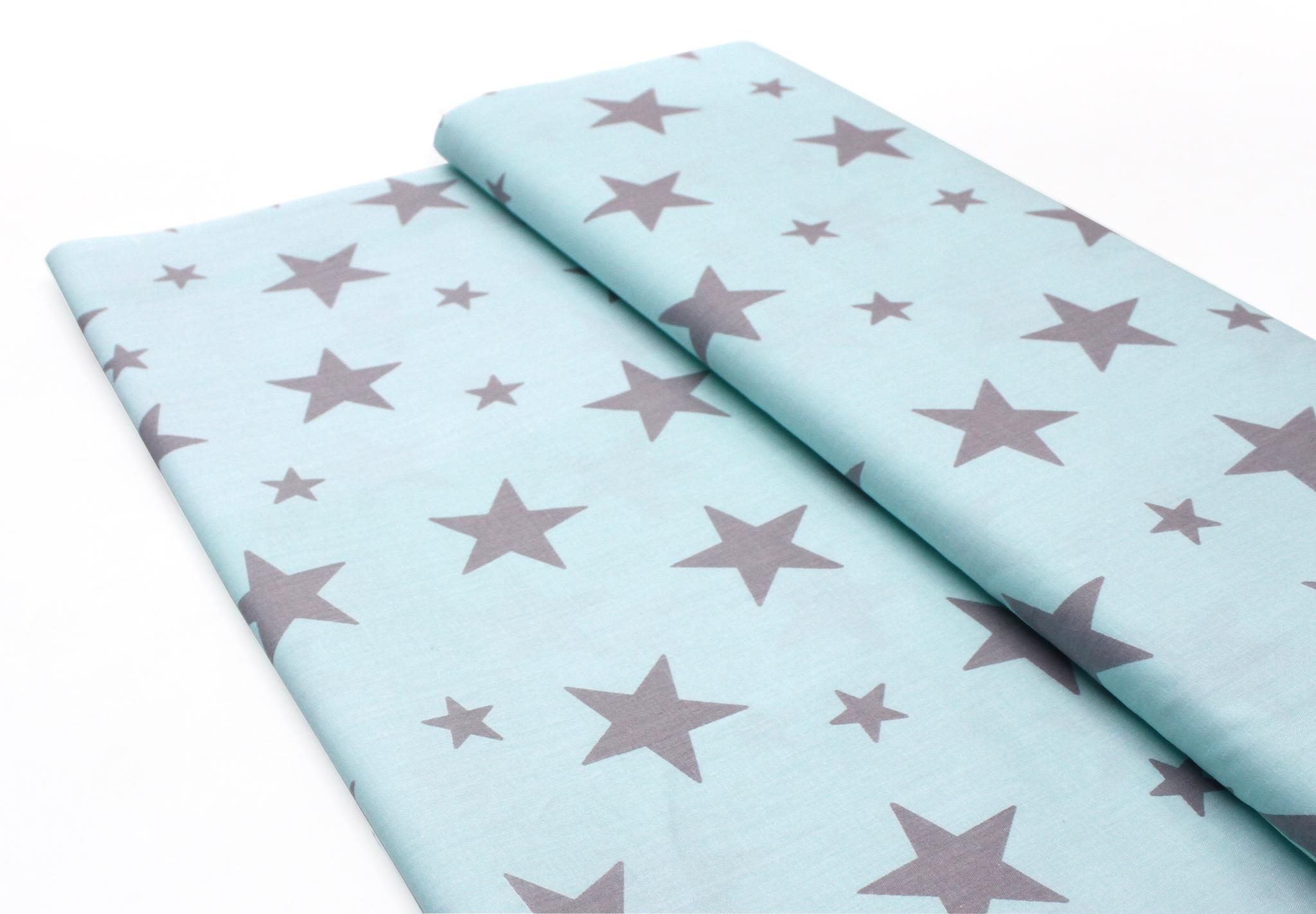 Звезды серые на мятно-голубом