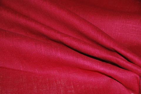 Льняная римская штора Кларин малиновый