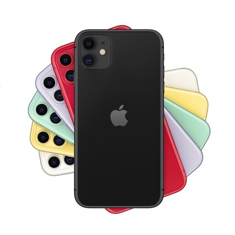 Смартфон Apple iPhone 11 128GB Black (черный)  -РОСТЕСТ-