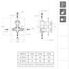 Встраиваемый термостатический смеситель для душа RS-CROSS 628712S на 2 выхода - фото №2