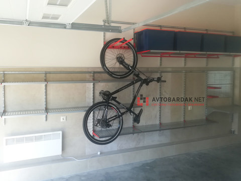 Комплект из модуля IF  для велосипеда с направляющими для подвеса на стену