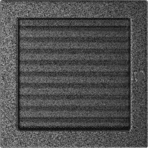 Вентиляционная решетка Черная/Серебро с задвижкой (22*22) 22CSX