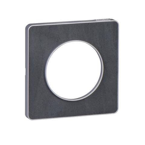 Рамка на 1 пост. Цвет Сланец, алюминиевая вставка. Schneider Electric(Шнайдер электрик). Odace(Одес). S53P802V
