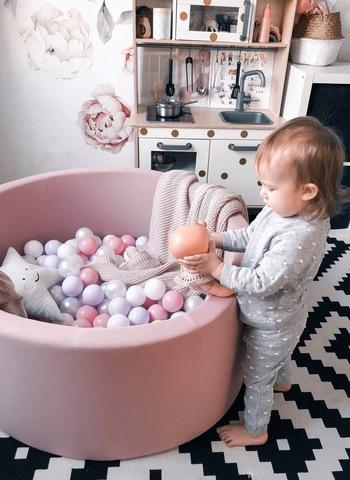 Сухой бассейн  Anlipool 100/40см Пудра комплект  №7 200 шаров Powdery tenderness