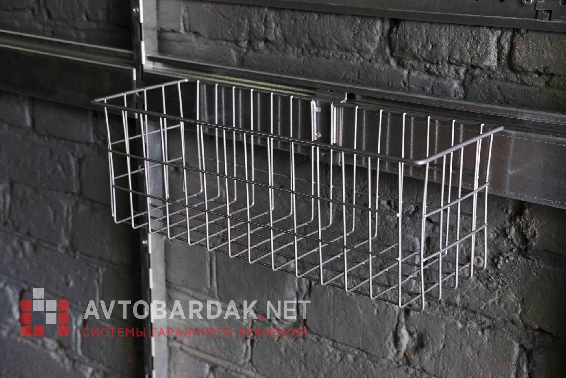 Средняя металлическая корзина 400х140х140 (для химии, спреев) , BS-K4-M