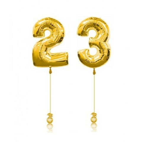 Цифры золотые 23