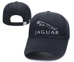 Кепка с вышитым логотипом Ягуар (Бейсболка Jaguar) черная
