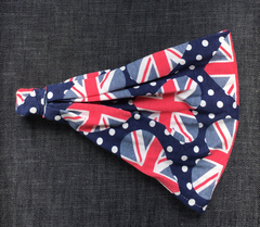 Повязка - косынка - бандана из трикотажа с принтом Британский флаг