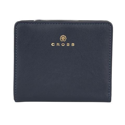 Женский кожаный компактный кошелёк 11х9,5х2см CROSS Monaco Navy AC898083_1-5
