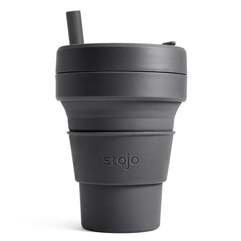 Стакан складной силиконовый Stojo Biggie Carbon, 16 oz / 470 мл