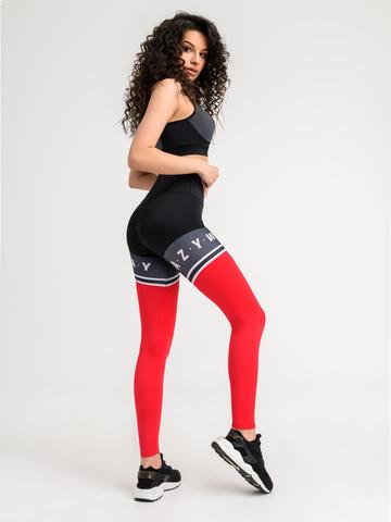 Леггинсы жен. для йоги и фитнеса красные