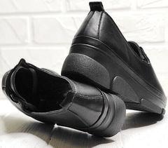 Кожаные кроссовки туфли осенние женские Mario Muzi 1350-20 Black.