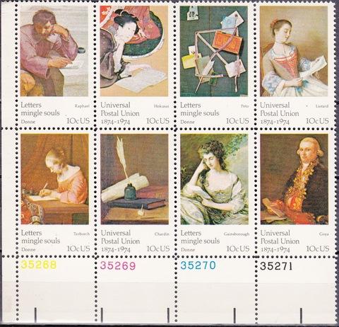 США 1974 Scott 1530-7 2X **MNH