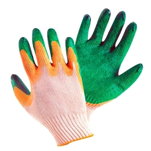 Перчатки с латексным покрытием 2 облива (10 пар)
