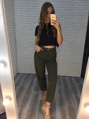 джинсы цвета хаки женские интернет магазин