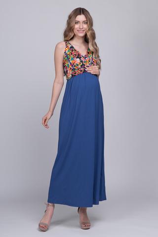 Платье для беременных 00490 ярко-синий