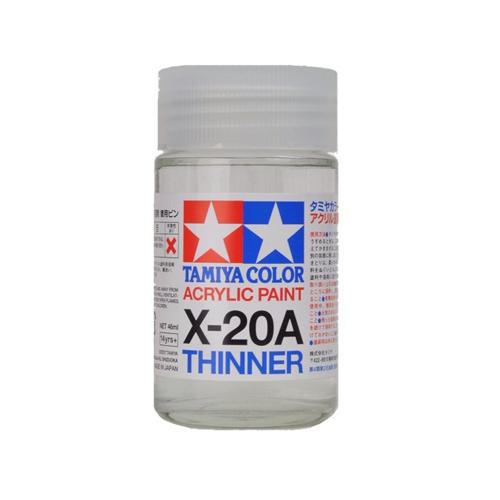 Tamiya Акрил X-20A Tamiya, Разбавитель для акриловых красок (Acrylic Thinner) 46мл 81030.jpg