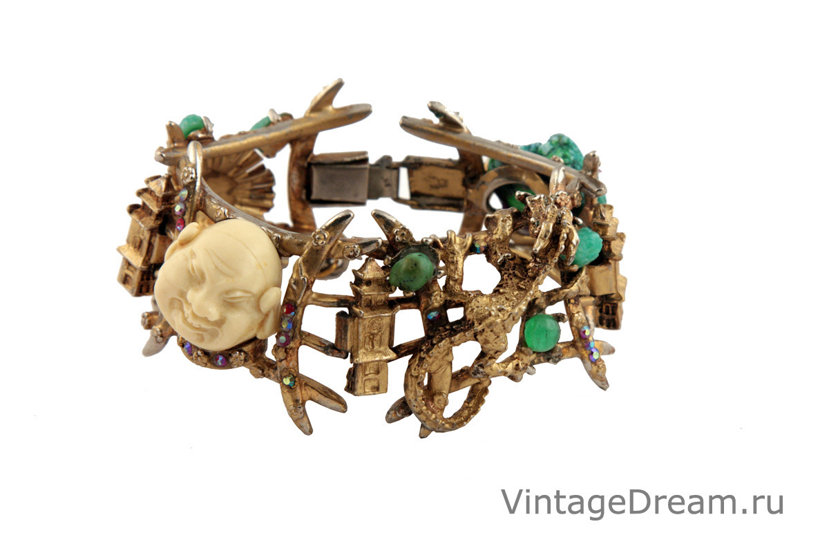 Luxury Asian-style bracelet by Har, 1960.