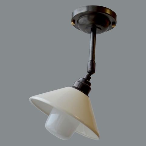 Потолочный светильник с керамическим плафоном, Тёмная бронза (Англия)
