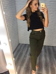 джинсы цвета хаки женские купить