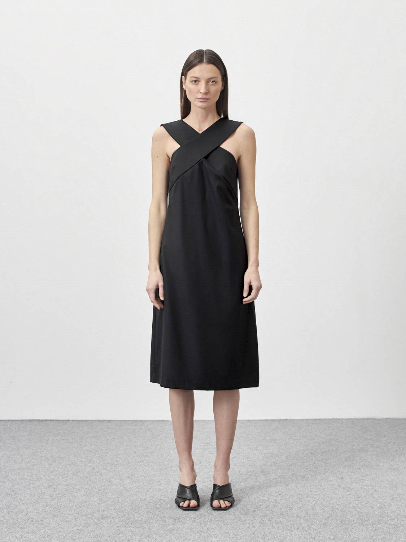 Платье с захлестами по груди Sima