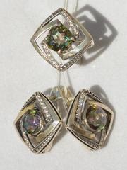 Лера (кольцо + серьги из серебра)