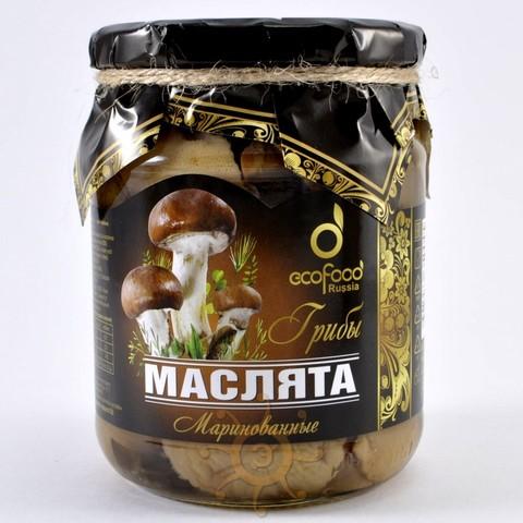 Грибы маслята маринованные Ecofood, 520г