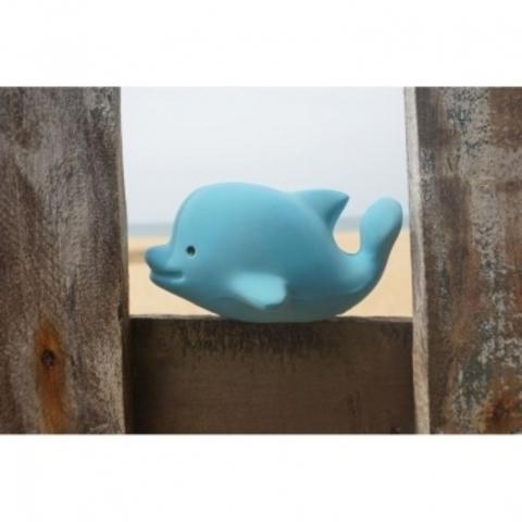Игрушка прорезыватель/для ванны из каучука Дельфин