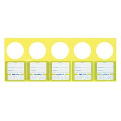 Ценник 50x95 мм с отверстием (5 штук на листе, 50 листов в упаковке)