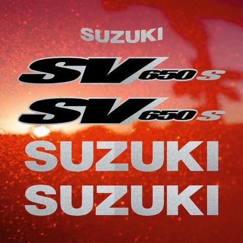 Набор виниловых наклеек на мотоцикл SUZUKI SV 650S 1999