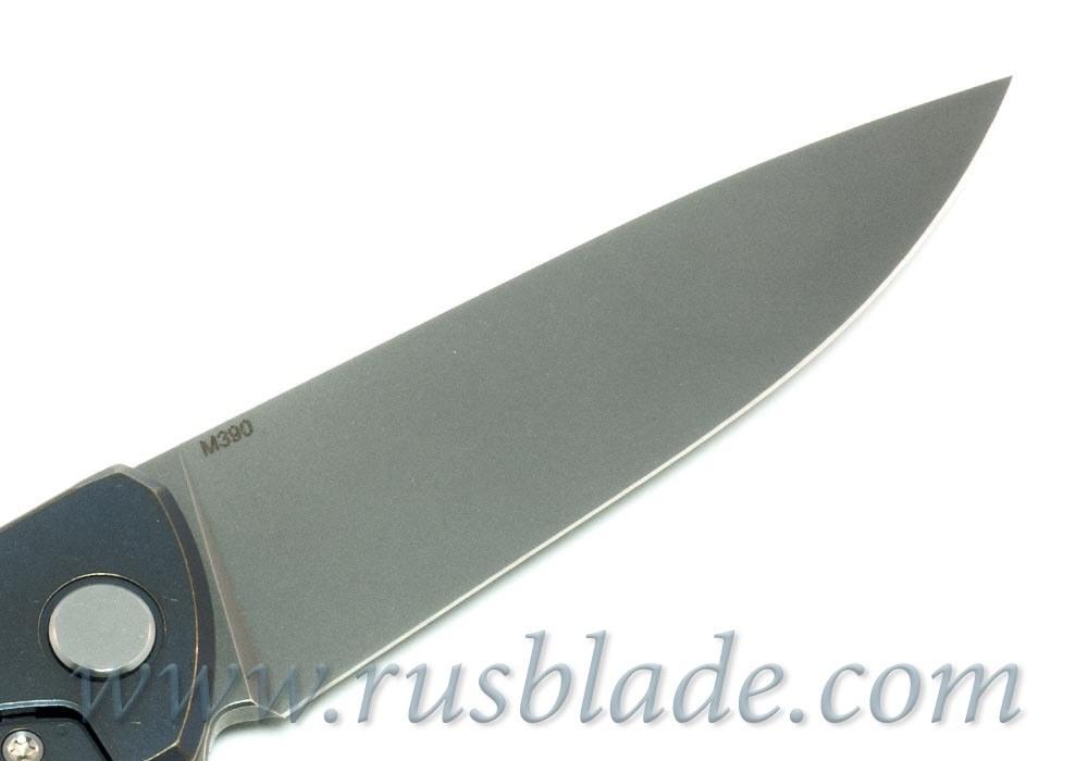 Shirogorov Flipper 95 М390 Blue Anod - фотография
