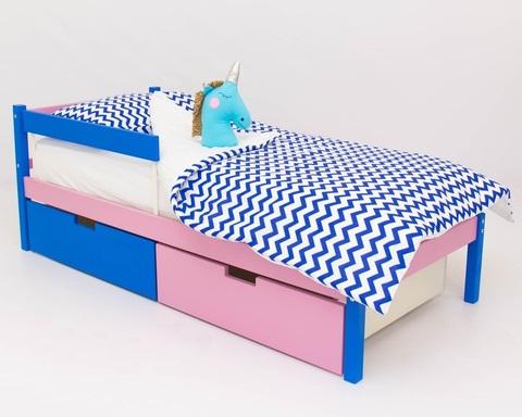 Кровать SKOGEN синий-лаванда