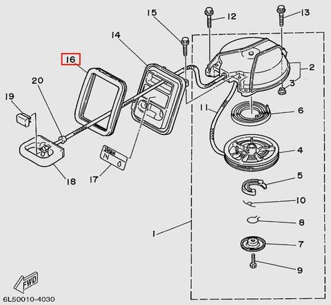 Уплотнитель стартера  для лодочного мотора T3 SEA-PRO (7-16)