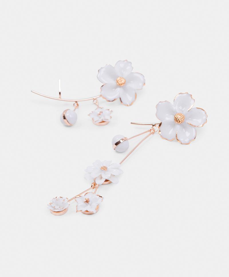 Серьги Wild Flower Asimethric