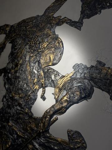Панно из литьевого камня БАРАБАНЩИК No.1 (105х80 см)  1/50
