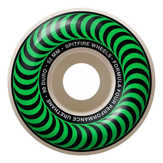 Колёса для скейтборда SPITFIRE F4 Classic (Green) 99A