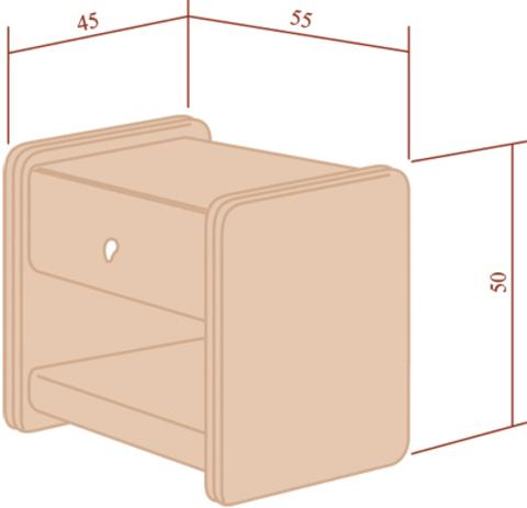 Тумба прикроватная Классик 1