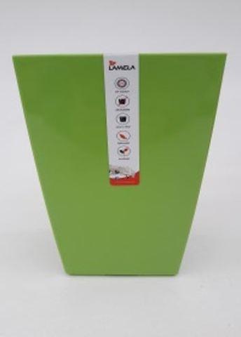 """Кашпо пластик """"Финезия"""" 125x125 мм, зеленое"""